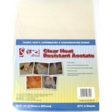 Clear heat resistant acetate sheets